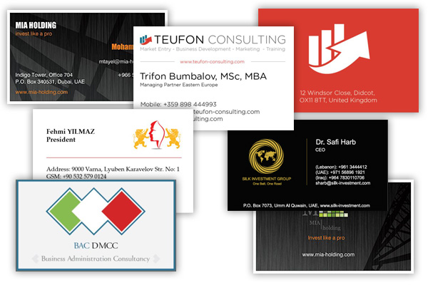 Business cards design and preprint